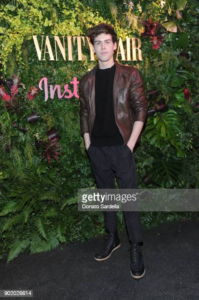 Aidan J Alexander attends Vanity Fair x Instagram Celebrate the New Class of Entertainers at Mel's Diner on Golden Globes Weekend at Mel's Diner on...
