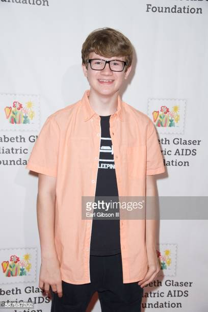 Aidan Miner attends The Elizabeth Glaser Pediatric AIDS Foundation's 28th Annual 'A Time For Heroes' Family Festival at Smashbox Studios on October...