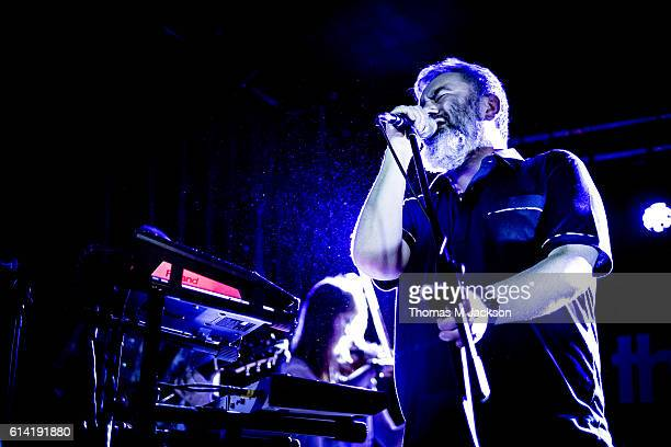 Aidan Moffat of Arab Strap performs at the Cluny on October 12 2016 in Newcastle upon Tyne England