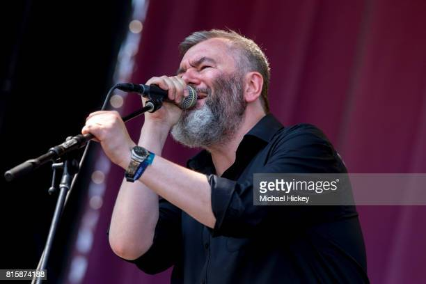 Aidan Moffat of Arab Strap performs at the Pitchfork Festival at Union Park on July 15 2017 in Chicago Illinois