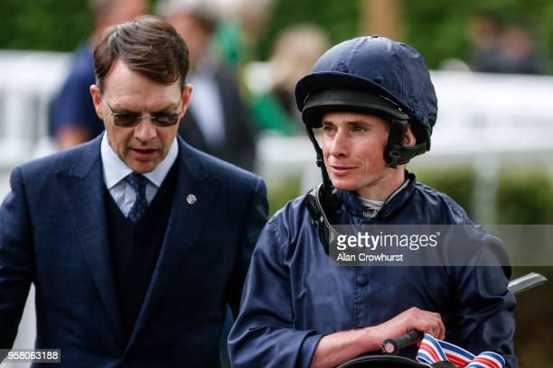 Aidan O'Brien and Ryan Moore at Hippodrome de Longchamp on May 13 2018 in Paris France