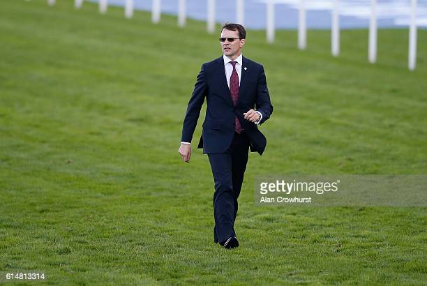 Aidan O'Brien on the track at Ascot Racecourse on October 15, 2016 in Ascot, England.
