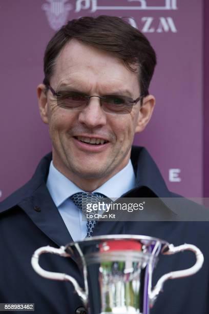 Aidan O'Brien-trained Happily wins the Race 2 QATAR PRIX JEAN-LUC LAGARDÈRE SPONSORED BY AL HAZM during the Qatar Prix de l'Arc de Triomphe Race Day...