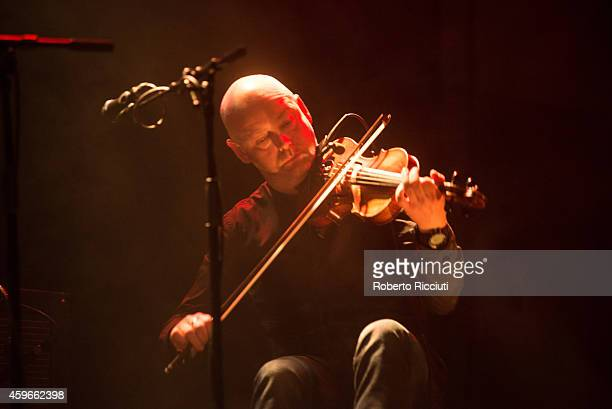 Aidan O'Rourke of Lau performs on stage at Queens Hall on November 27 2014 in Edinburgh United Kingdom
