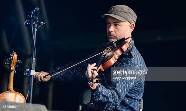 Aidan O'Rourke of the band Lau performs on stage at End Of The Road Festival 2014 at Larmer Tree Gardens on August 30 2014 in Salisbury United Kingdom