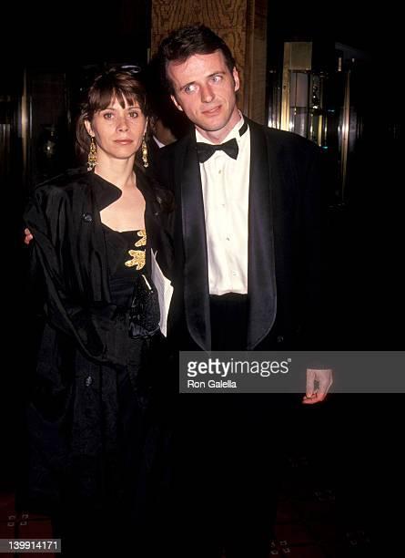 Aidan Quinn and Elizabeth Bracco at the National Baseball Hall of Fame Gala WaldorfAstoria Hotel New York City