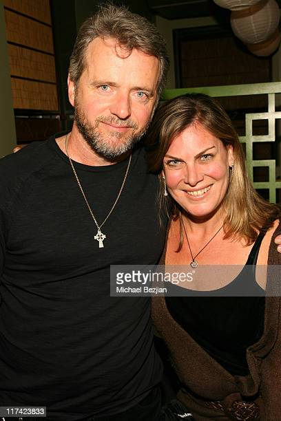 Aidan Quinn and Julie Mulholland during 2007 Sundance Film Festival 'Trade' Party at Heiniken Green Room in Park City Utah United States
