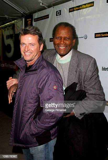 Aidan Quinn and Sidney Poitier during 2005 Sundance Film Festival Nine Lives Premiere at Eccles Theatre in Park City Utah United States