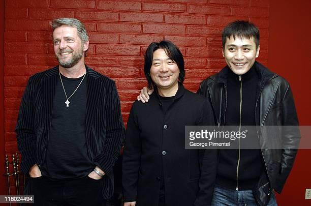 Aidan Quinn Chen ShiZheng and Liu Xing during 2007 Sundance Film Festival 'Dark Matter' Premiere at Prospector Theater in Park City Utah United States