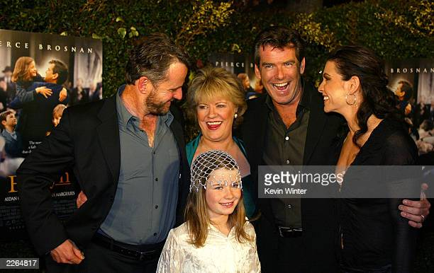 Aidan Quinn Evelyn Doyle Pierce Brosnan Julianna Margulies and Sophie Vavasseur at the premiere of Evelyn at the Academy of Motion Pictures Arts and...
