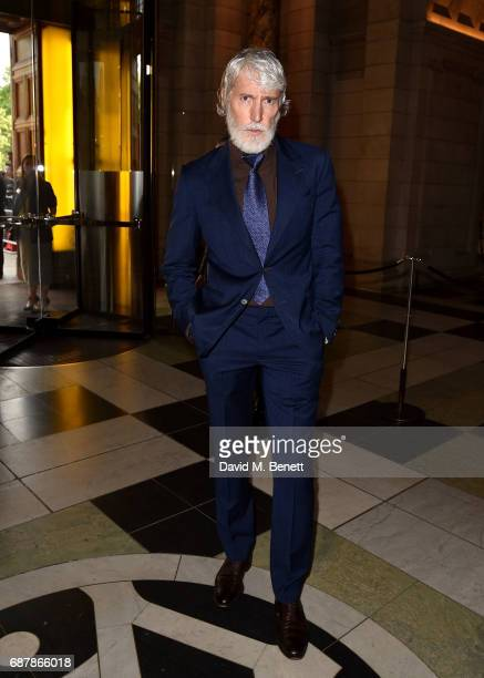 Aidan Shaw attends Balenciaga Shaping Fashion VIP Preview sponsored by American Express at Victoria and Albert Museum on May 24 2017 in London England
