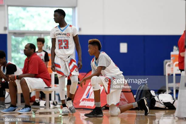 Aidan Shaw of Drive5 Power Elite looks on against KC Blue Chips during the Junior NBA World Championship Central Regional on June 10 2018 in Lawrence...