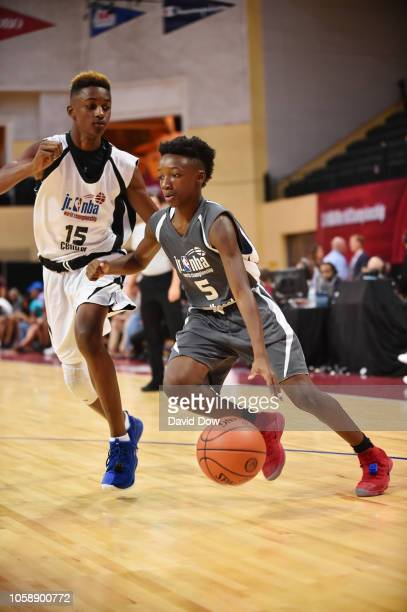 Aidan Shaw of Team Central defends against Team Southeast during the Jr NBA World Championship US Finals on August 11 2018 at ESPN Wide World of...