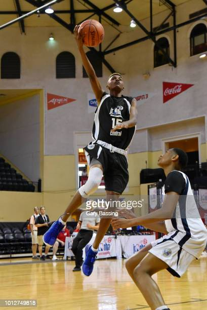 Aidan Shaw of the Central Boys goes to the basket against the Northeast Boys during the Jr NBA World Championship on August 7 2018 at ESPN Wide World...