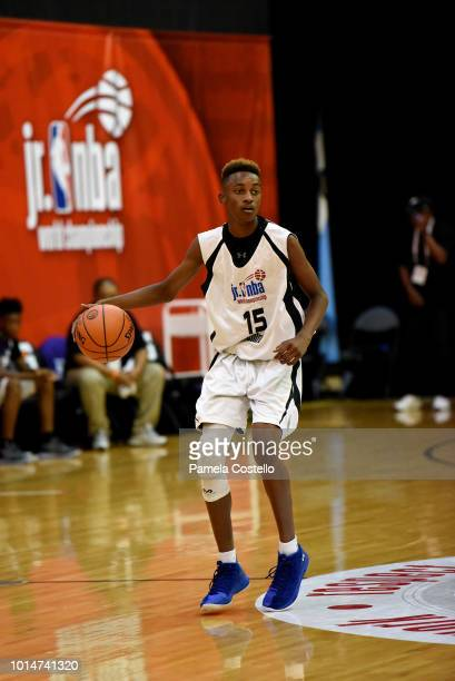 Aidan Shaw of the Central Boys shoots the ball during the game against the Northwest Boys during the Jr NBA World Championships Tournament in Orlando...