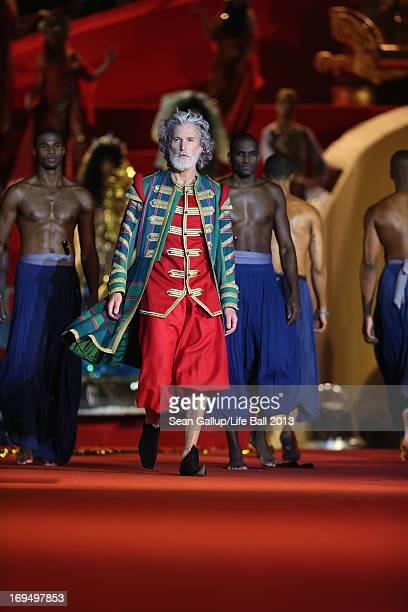 Aidan Shaw walks the runway during the 'Life Ball 2013 Show' at City Hall on May 25 2013 in Vienna Austria