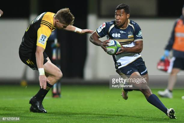 Aidan Toua of the Brumbies in action during the round nine Super Rugby match between the Hurricanes and the Brumbies at McLean Park on April 21 2017...