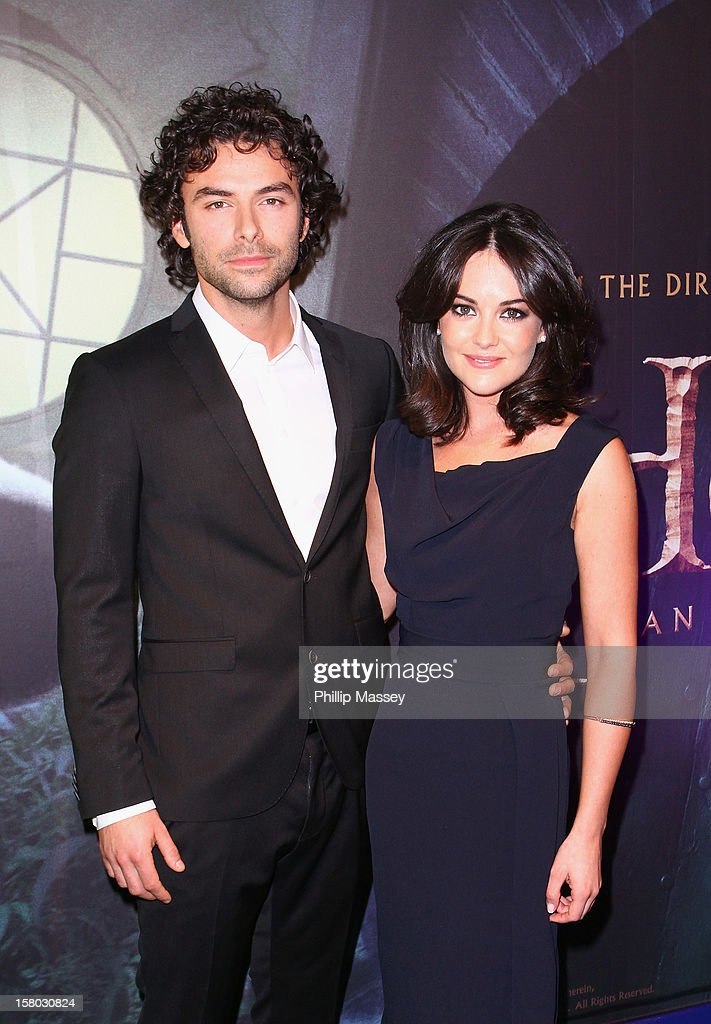 aidan turner and sarah greene attend the irish premiere of 39 the nachrichtenfoto getty images. Black Bedroom Furniture Sets. Home Design Ideas