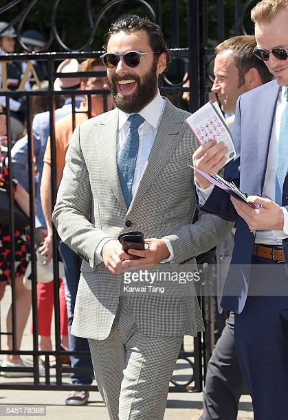 Aidan Turner attends day nine of the Wimbledon Tennis Championships at Wimbledon on July 06 2016 in London England