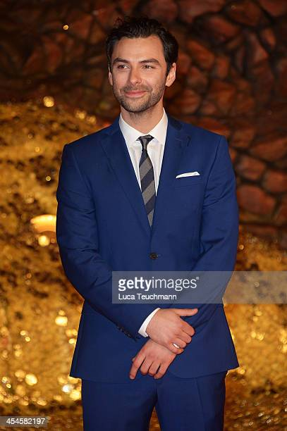 Aidan Turner attends the German premiere of the film 'The Hobbit: The Desolation Of Smaug' at Sony Centre on December 9, 2013 in Berlin, Germany.