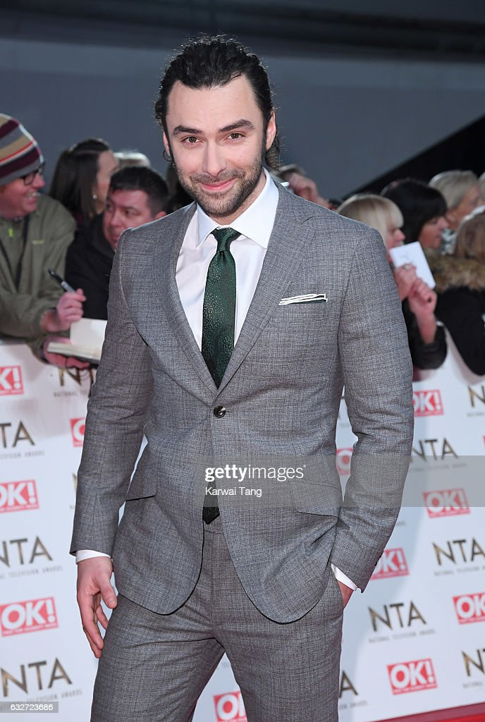 Aidan Turner attends the National Television Awards at The O2 Arena on January 25, 2017 in London, England.
