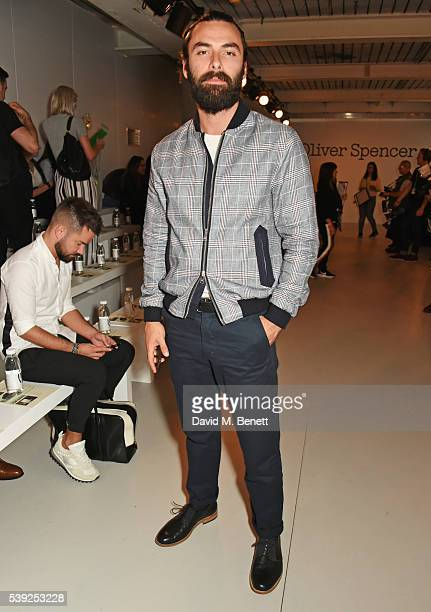 Aidan Turner attends the Oliver Spencer show during The London Collections Men SS17 at the BFC Show Space on June 10 2016 in London England