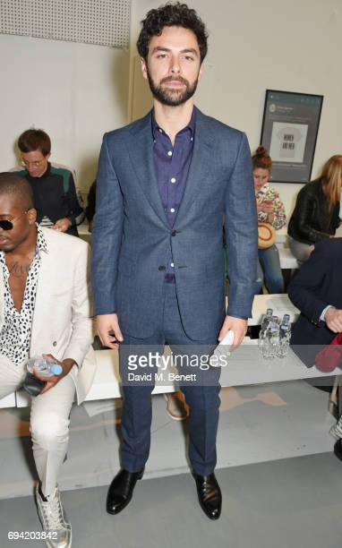 Aidan Turner attends the Oliver Spencer SS18 Catwalk Show during London Fashion Week Men's June 2017 on June 9 2017 in London England