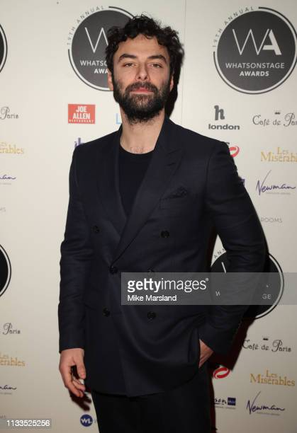 Aidan Turner attends the WhatsOnStage Awards at Prince Of Wales Theatre on March 03 2019 in London England