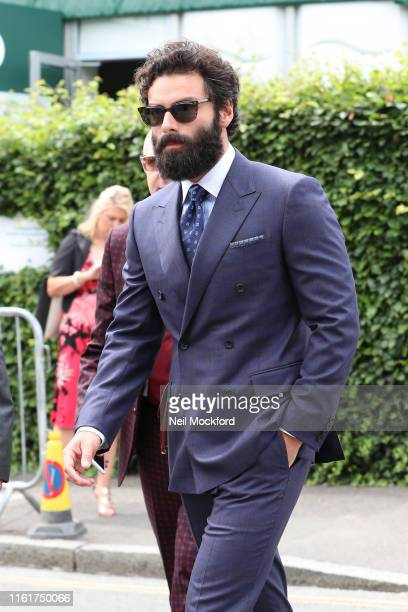 Aidan Turner attends Women's Final Day at the Wimbledon 2019 Tennis Championships at All England Lawn Tennis and Croquet Club on July 13 2019 in...