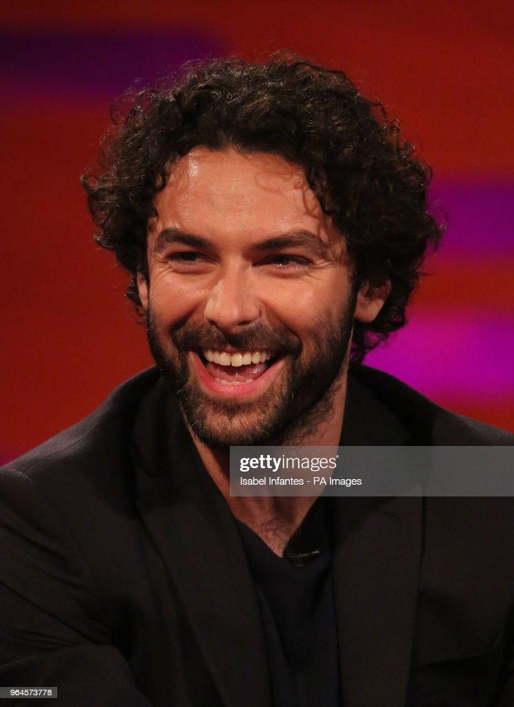 Aidan Turner during the filming of the Graham Norton Show at BBC Studioworks 6 Television Centre, Wood Lane, London, to be aired on BBC One on Friday evening.