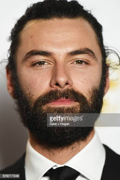 Aidan Turner poses for a photo in the winners room during the House Of Fraser British Academy Television Awards 2016 at the Royal Festival Hall on...