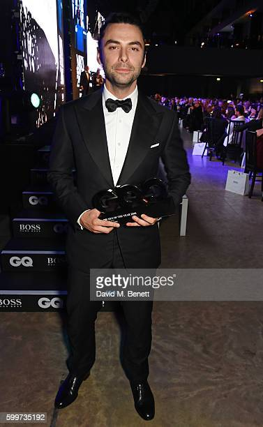 Aidan Turner winner of the Television Actor award attends the GQ Men Of The Year Awards 2016 at the Tate Modern on September 6 2016 in London England