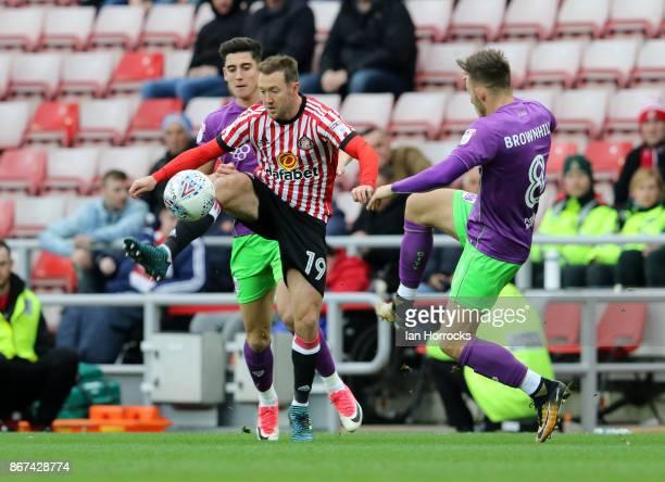 Aidem McGeady of Sunderland takes on Josh Brownhill of Bristol during the Sky Bet Championship match between Sunderland and Bristol City at Stadium...