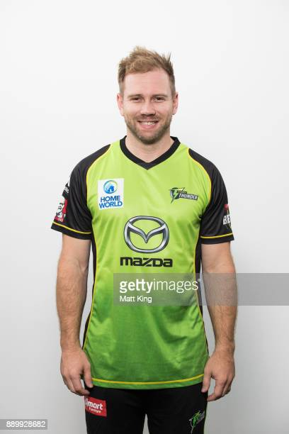 Aiden Blizzard poses during the Sydney Thunder Big Bash League BBL headshots session on December 8 2017 in Sydney Australia