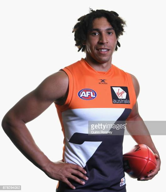 Aiden Bonar of the Giants poses during the 2017 AFL Draft at Sydney Showgrounds on November 24 2017 in Sydney Australia