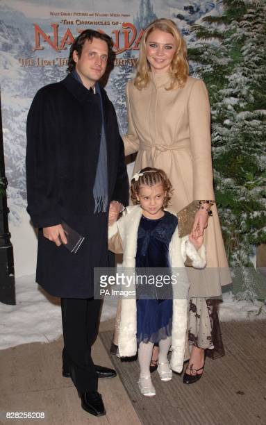Aiden Butler and Jodie Kidd arrive for the Royal Film Performance World Premiere of 'The Chronicles Of Narnia' from the Royal Albert Hall west London...