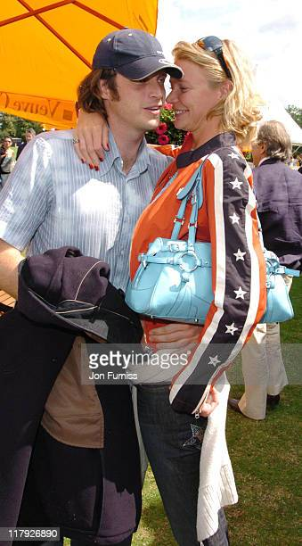Aiden Butler and Jodie Kidd during Veuve Clicquot Polo Gold Cup Final July 18 2004 at Cowdry Park in West Sussex Great Britain