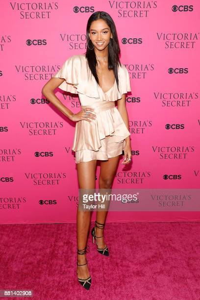 Aiden Curtiss attends the Victoria's Secret Viewing Party Pink Carpet celebrating the 2017 Victoria's Secret Fashion Show in Shanghai at Spring...