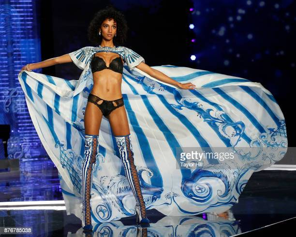 Aiden Curtiss walks the runway during the 2017 Victoria's Secret Fashion Show at MercedesBenz Arena on November 20 2017 in Shanghai China
