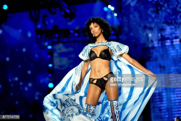 Aiden Curtiss walks the runway during the 2017 Victoria's Secret Fashion Show In Shanghai at MercedesBenz Arena on November 20 2017 in Shanghai China