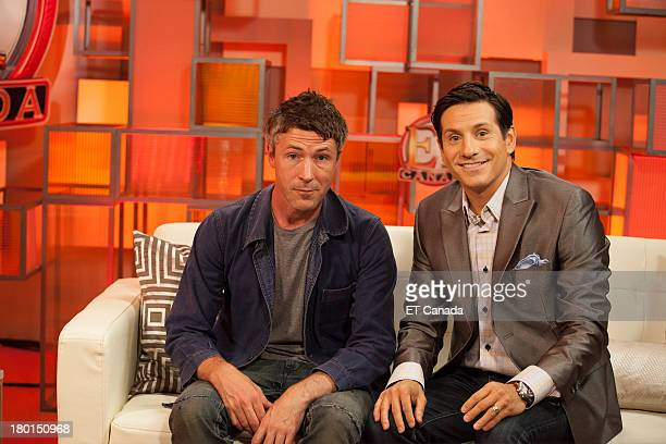 Aiden Gillen and Rick Campanelli in the ET Canada Festival Central Lounge at the 2013 Toronto International Film Festival on September 9 2013 in...