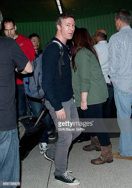 Aiden Gillen is seen at Los Angeles International Airport on March 17 2013 in Los Angeles California