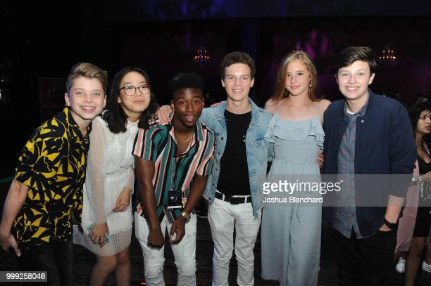Aiden Langford Madison Hu Stevonte Hart Hayden Summerall Brooke Butler and Dodge Prince attend 'Sage Alexander The Dark Realm' Launch Party Cohosted...