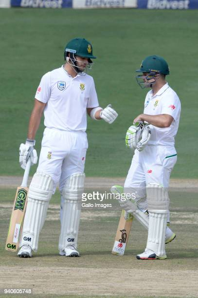 Aiden Markram and Dean Elgar of the Proteas make a 50 run partnership during day 3 of the 4th Sunfoil Test match between South Africa and Australia...