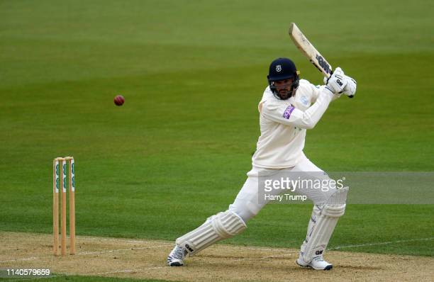 Aiden Markram of Hampshire bats during Day One of the Specsavers County Champions Division One match between Hampshire and Essex at the Ageas Bowl on...