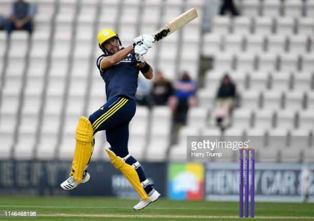 Aiden Markram of Hampshire bats during the Royal London One Day Cup match between Hampshire and Sussex at the Ageas Bowl on May 02 2019 in...
