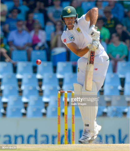 Aiden Markram of South Africa during day 1 of the 2nd Sunfoil Test match between South Africa and India at SuperSport Park on January 13 2018 in...