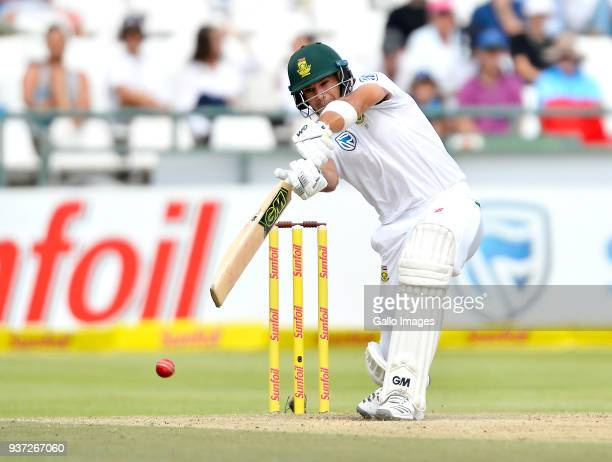 Aiden Markram of South Africa during day 3 of the 3rd Sunfoil Test match between South Africa and Australia at PPC Newlands on March 24 2018 in Cape...