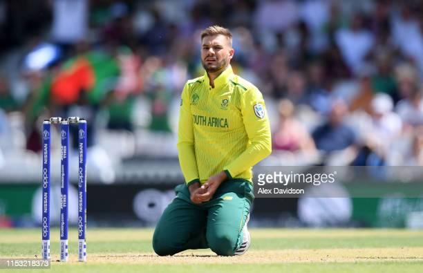 Aiden Markram of South Africa during the Group Stage match of the ICC Cricket World Cup 2019 between South Africa and Bangladesh at The Oval on June...