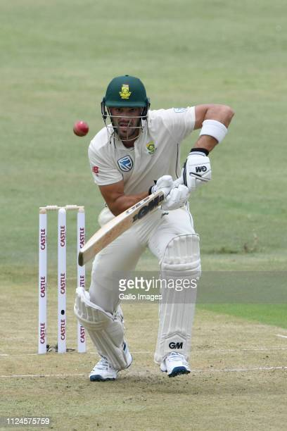 Aiden Markram of South Africa in action during day 1 of the 1st Test match between South Africa and Sri Lanka at Kingsmead Stadium on February 13...